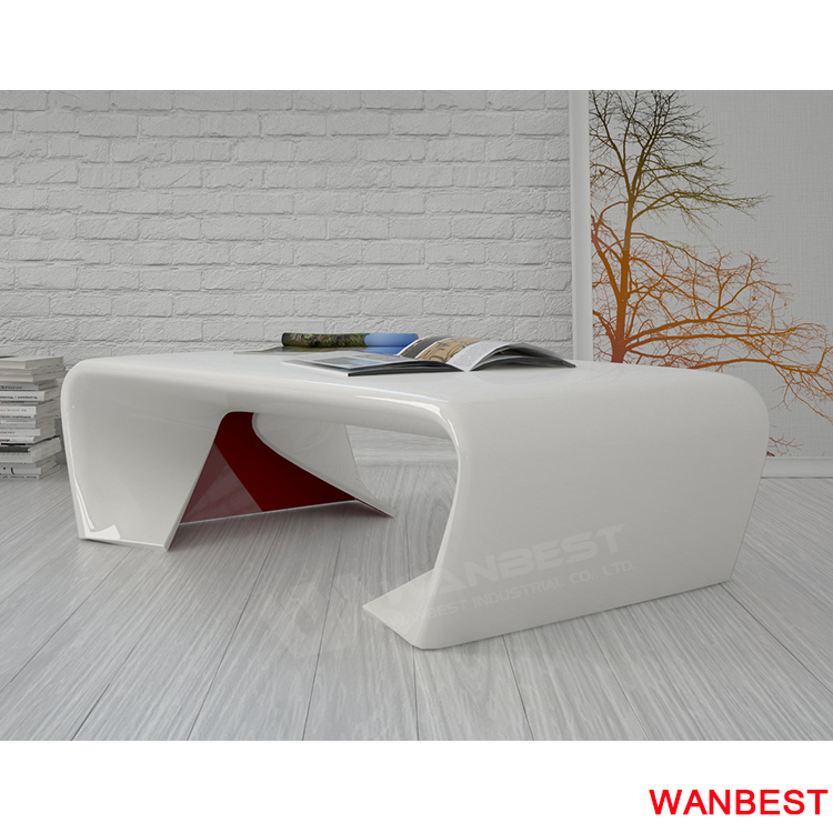 white marble desk -the side