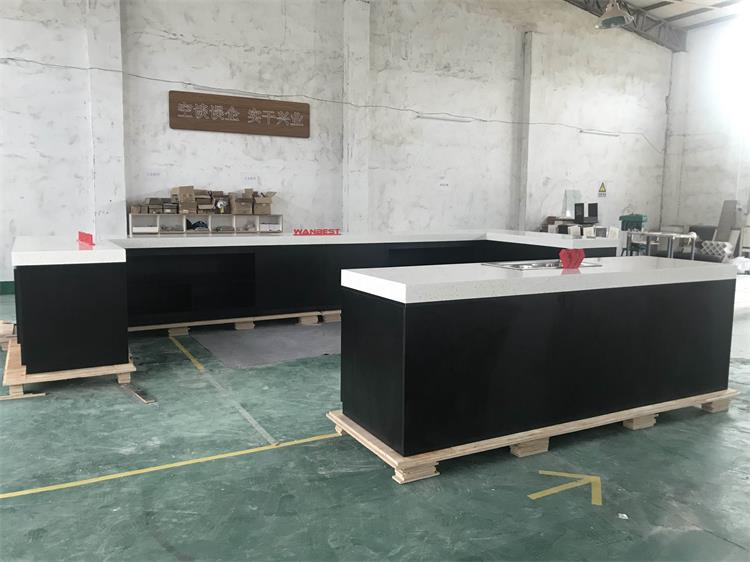Large artificial stone kitchen counter