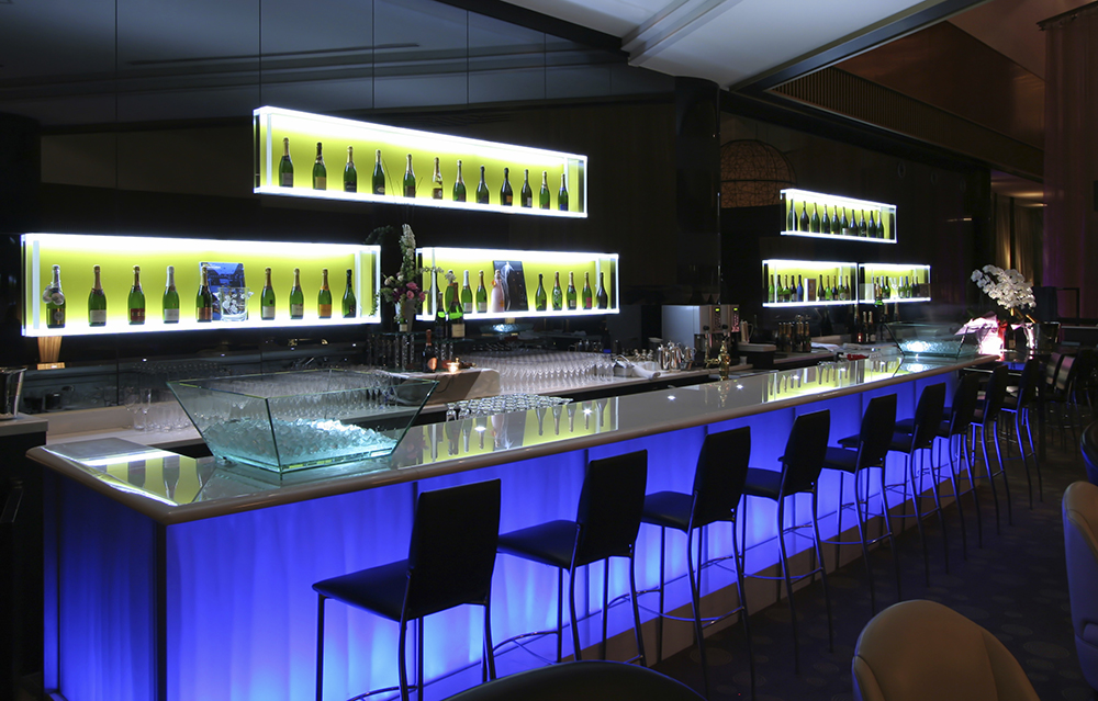 luxury bar counter