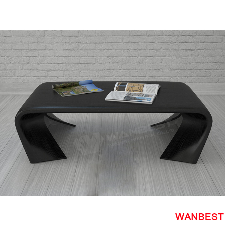 the side of black marble desk