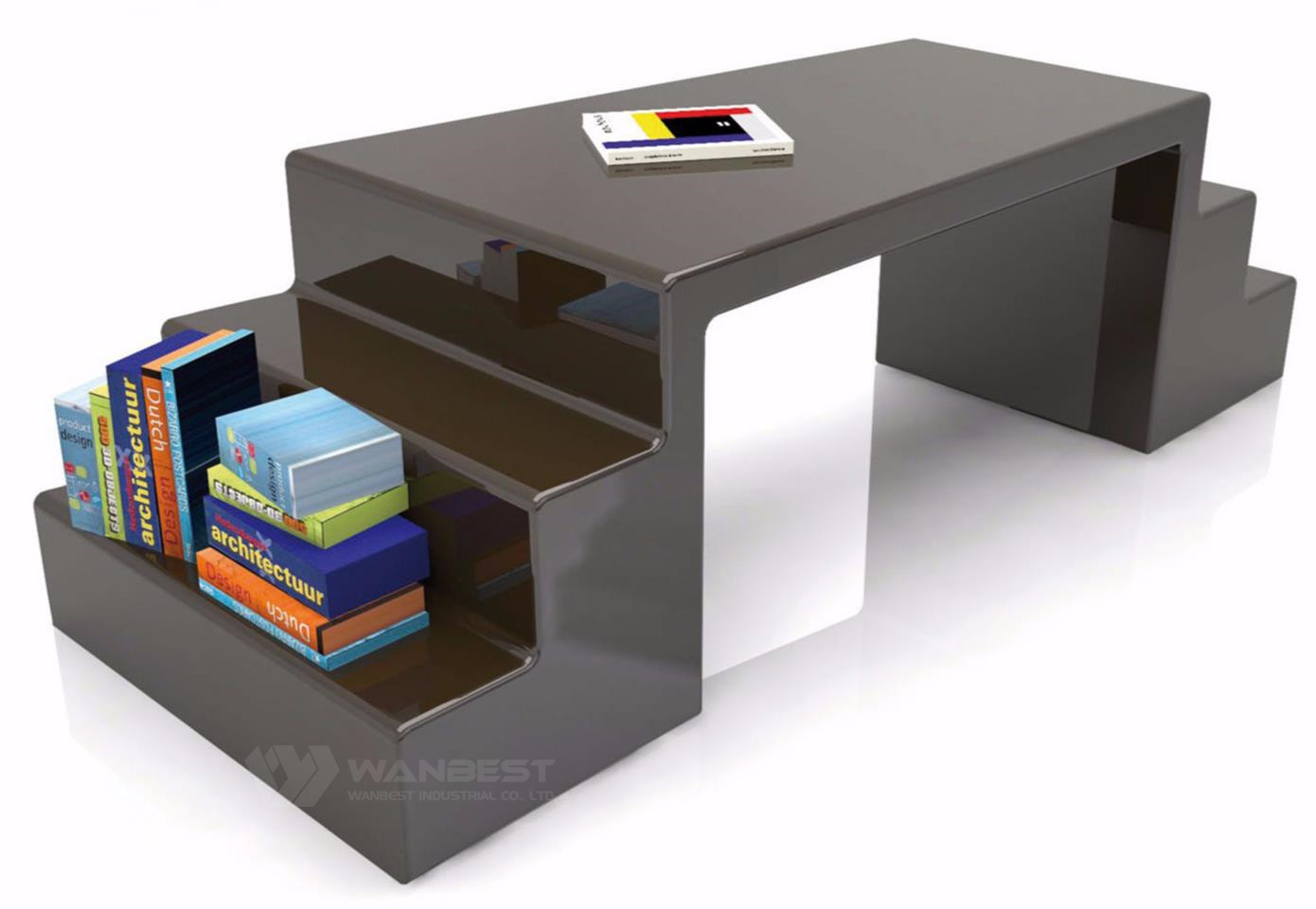 multifunction offidce desk -brown