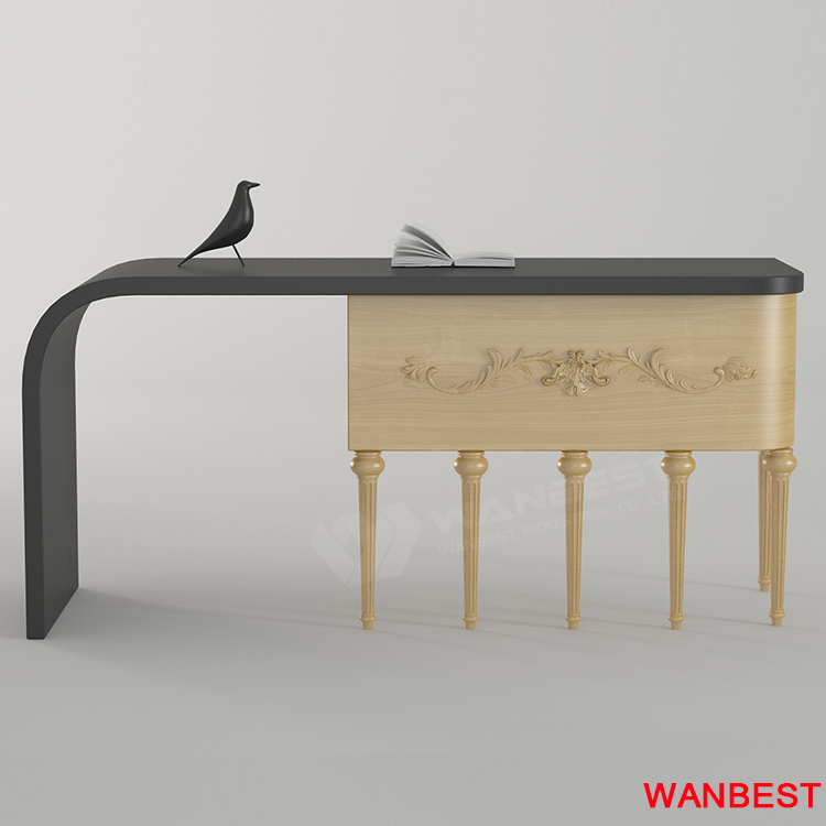 solid surface desk-black