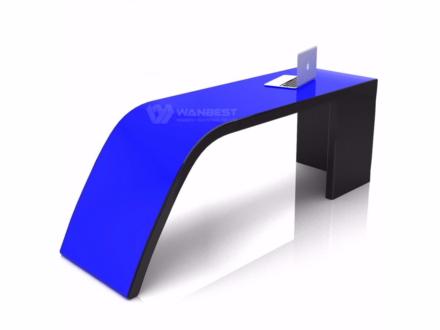 Irregular Shape Office Desk-blue
