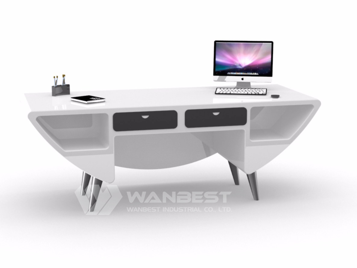 Special Design Solid Surface white desk