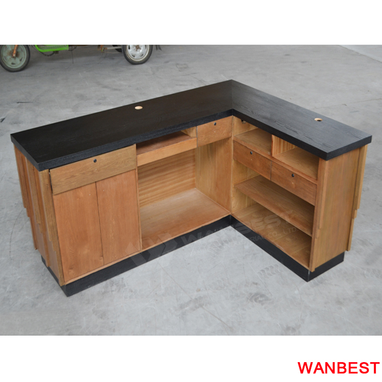 reception desk-wood body