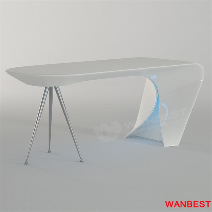 curved office furniture-with light