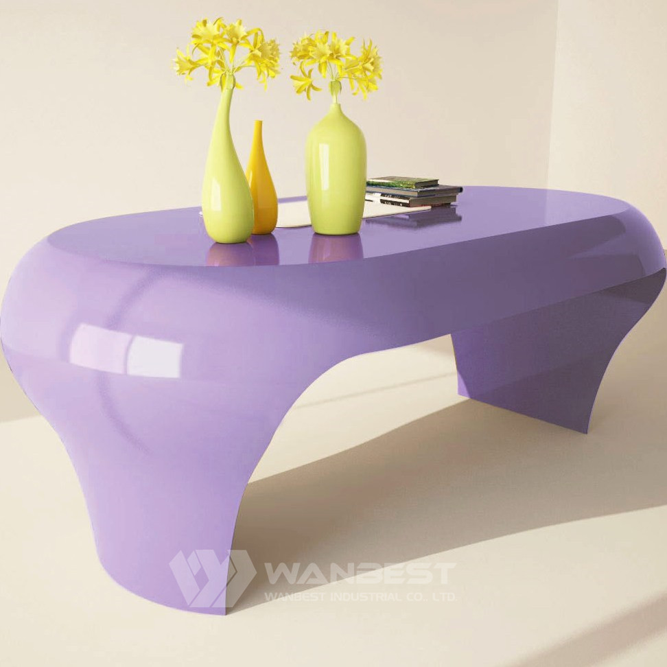 colorful small computer desk -purple