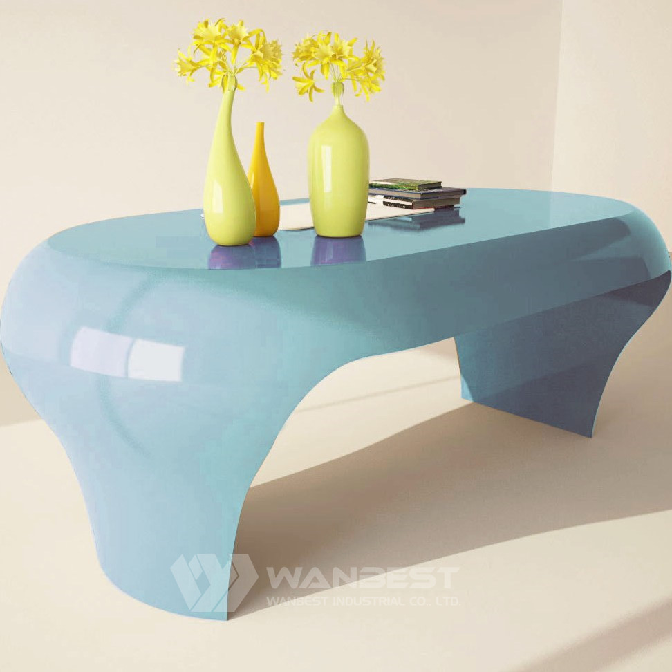 colorful small computer desk -baby blue
