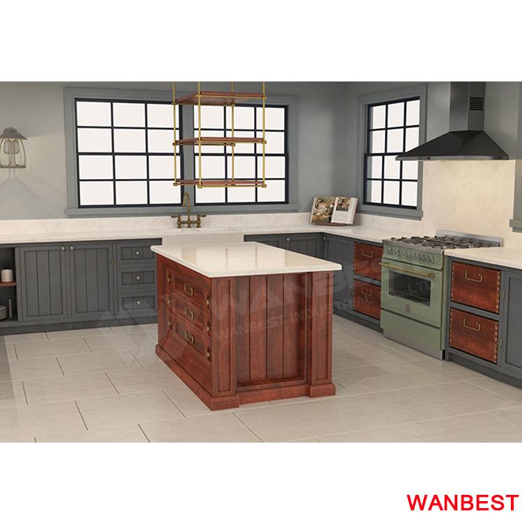 New Style Quartz Kitchen Countertops L Shape Kitchen Desk