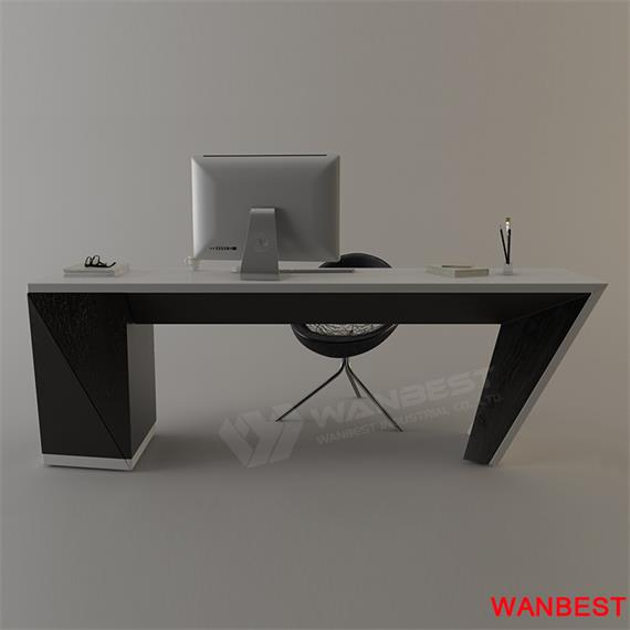 Popular  artificial stone manager Office Table for sales desk furniture