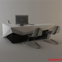Luxury Solid Surface Computer Office CEO Desk
