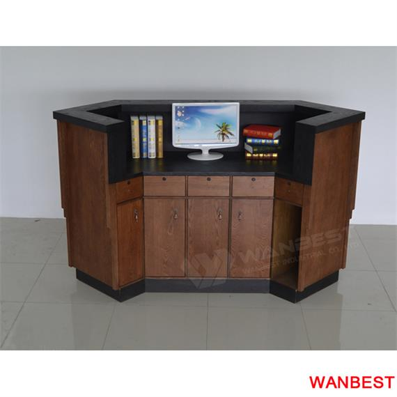 Modern brown curved Quality Hot Sale reception desk counter