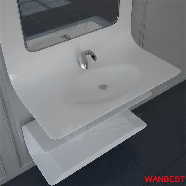 Special Solid Surface Curved Wall Wash Sink Hand Basin