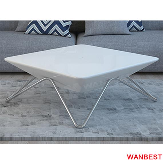 New products dining room high gloss white 4 seats table