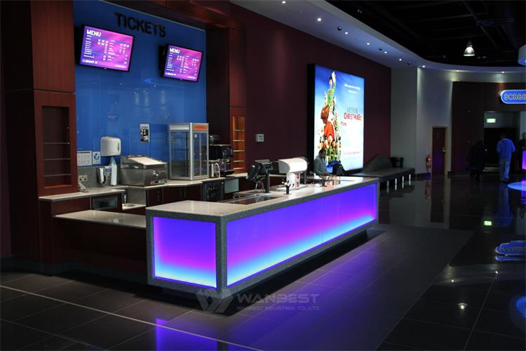 service counter RGB led lighting