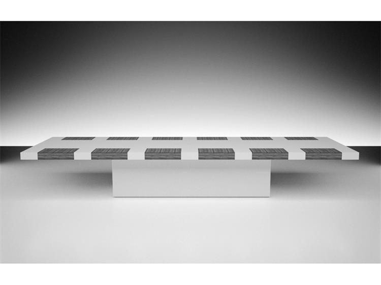 conference table -white and black