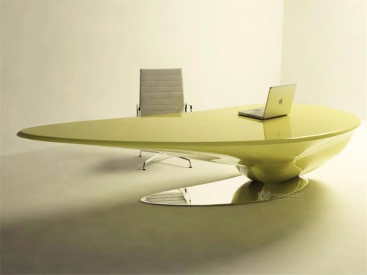 Unique shape manager desk