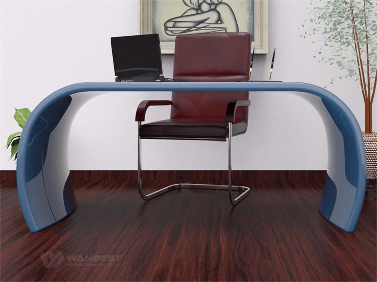 Blue office desk