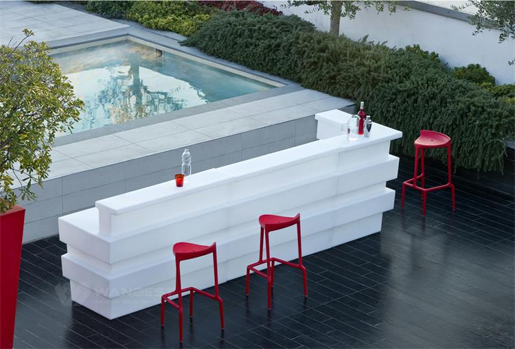 Luxury design outdoor bar counter