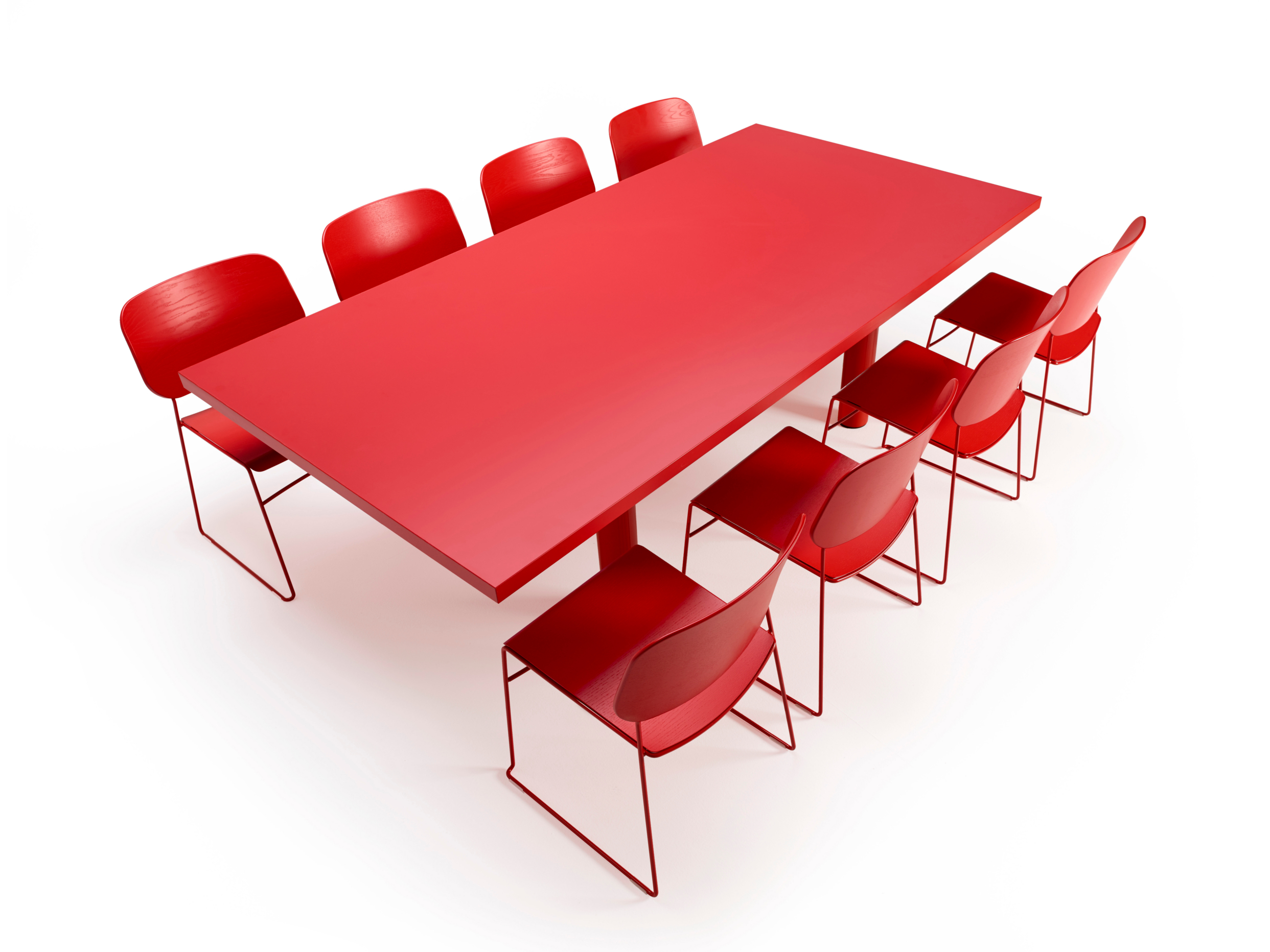 Red rectangle conference table 10 seats for sale new design Popular