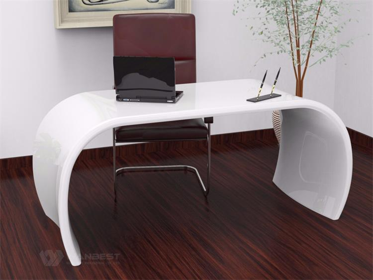 White office desk