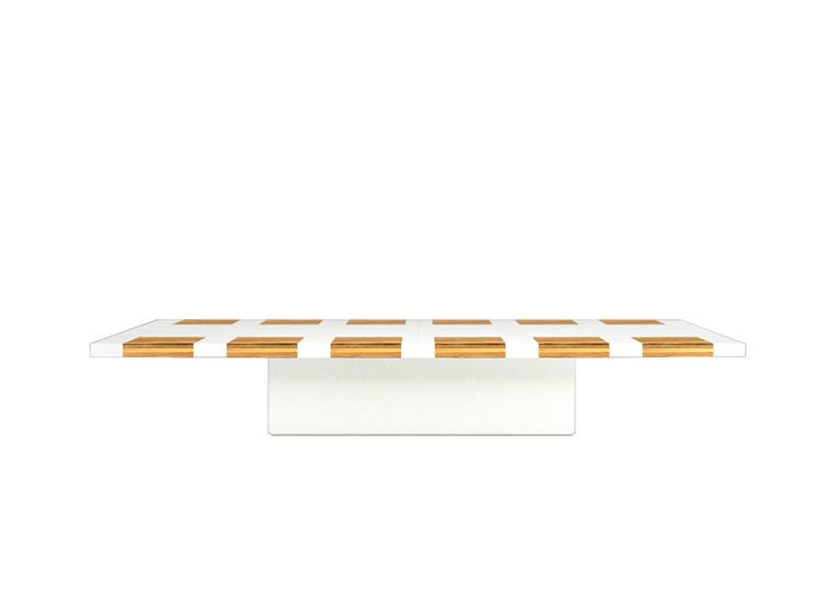 conference table white and gold
