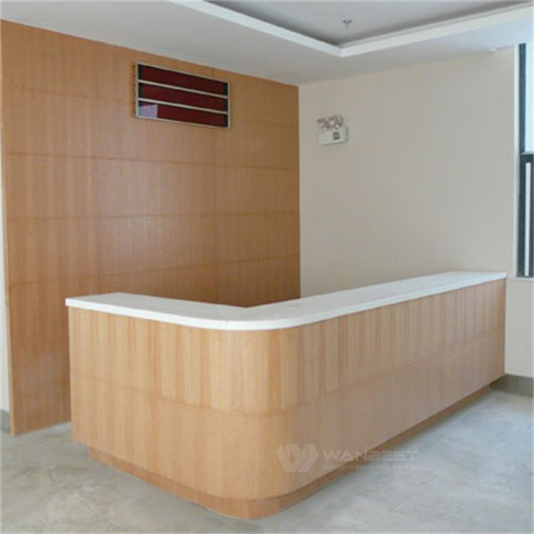 L shape reception desk