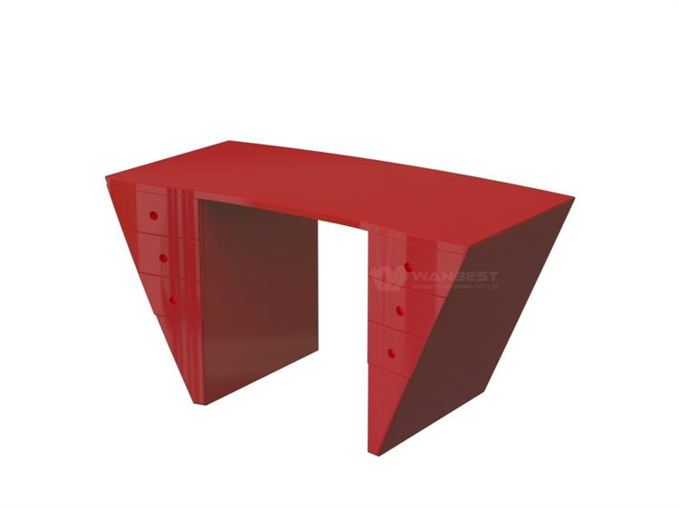 Artificial stone new red office desk