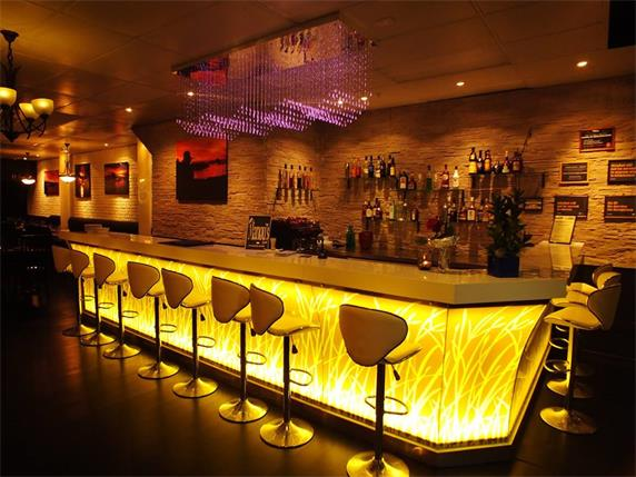 Illuminate Led Lighting Luxury Bar Counter for hot sale