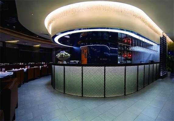 luxury round bar counter for restaurant