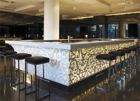Aritificial stone custom bar counter manufacturer Bar counter design