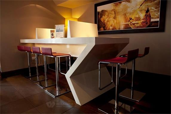 modern appearance corner bar table for break room