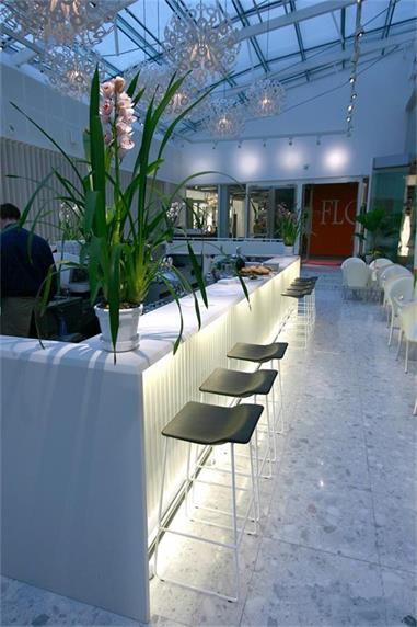 custom Wanbest countertops led lighting white bar counter