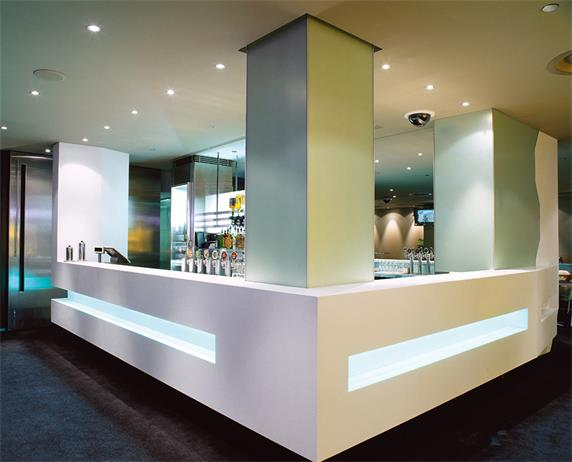 White Color Modern Bar Counter with LED