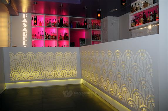 luxury design led light beautiful bar counter