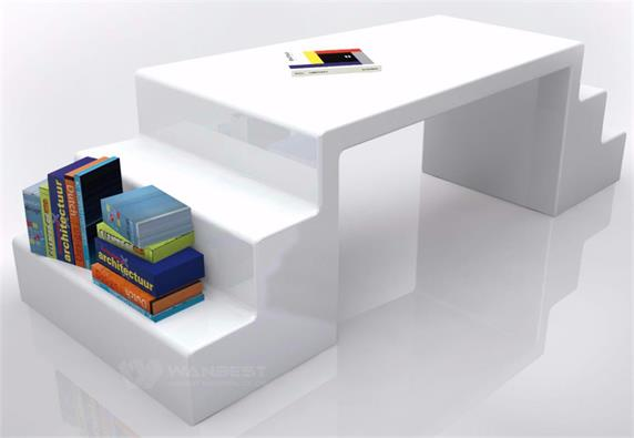 Multifuction Sales Desk Home Furniture Store With Book Shelf