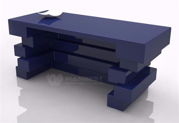 Special Blue Lobby Office Desk Custom Color
