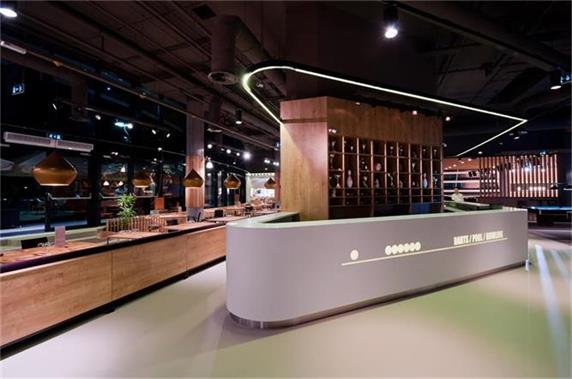 white modern custom design cheap bar counter