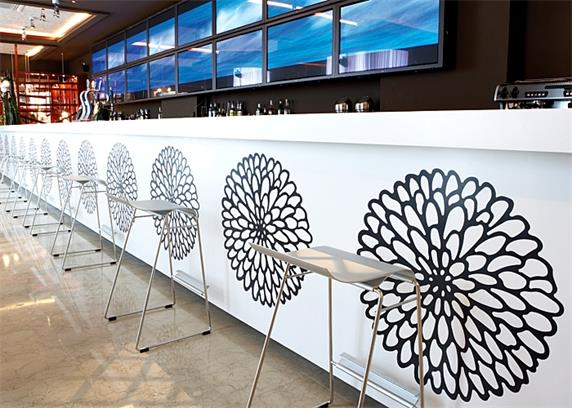 bar counter white design for night club