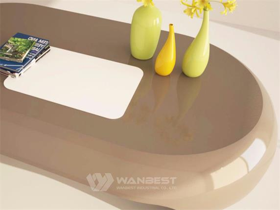 Colorfule Small Office Desk Curved Book Counter Furniture