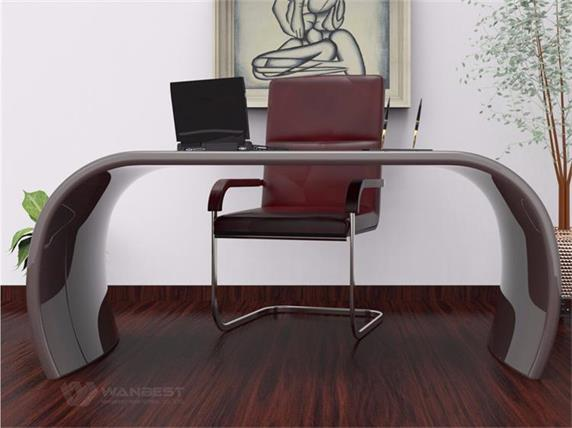 Half round office desk for boss home computer desk