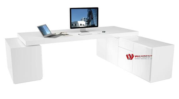 Discount Executive L Shaped Office Desk Furniture for sale