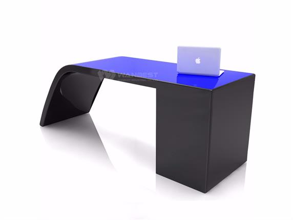 Irregular shape office desk for executive officer