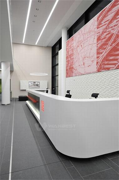 Straight Reception Counter Luxury Modern Office Furniture