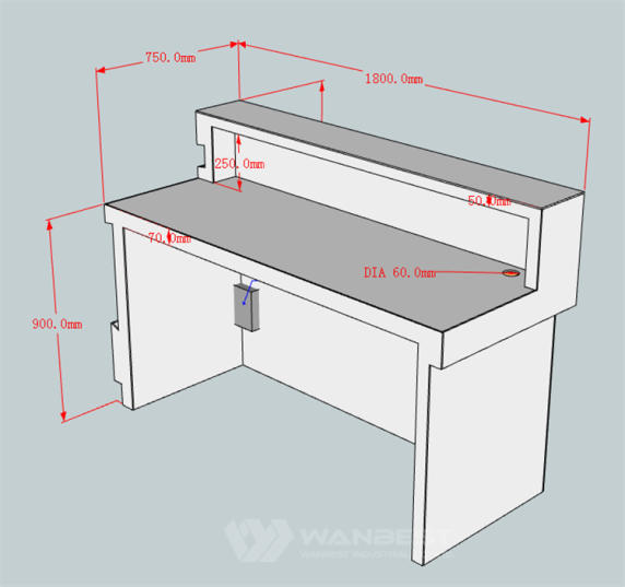 Salon Reception Desk High Quality Guarantee Custom Design