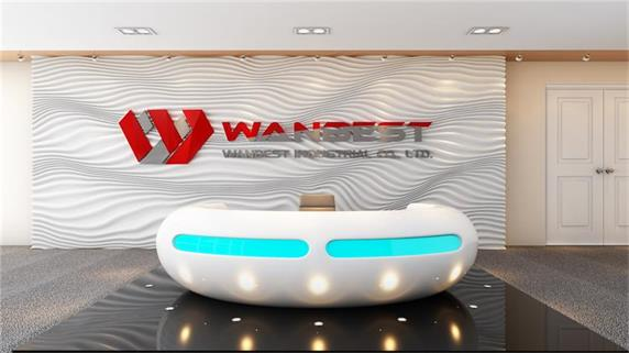 WANBEST OEM Design White Solid Surface Office Front Reception Desk