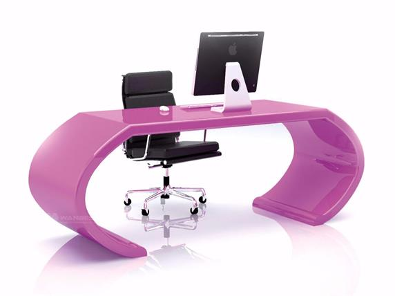 White office desk unique design for manager