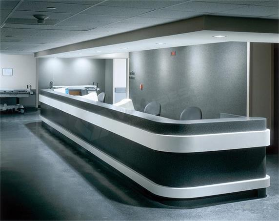 Office Custom Corian Reception Front Desk Supplier
