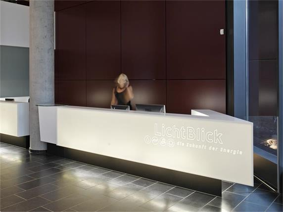 Large Illuminate White Led Lighting Information Counter