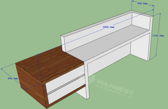 2 person reception counter office furniture manufacturers
